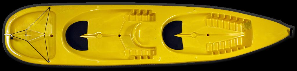 caiaque-foca-duplo-amarelo-caiaker